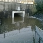 A new water feature is created as Lake Blake overspills into the underpass.
